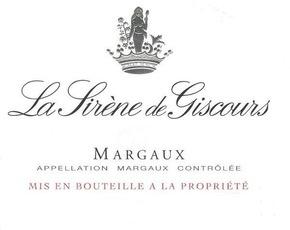 Wine Château Giscours, La Sirene de Giscours Margaux 2014 3L