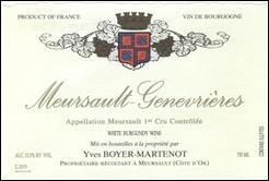 Wine Domaine Yves Boyer-Martenot Meursault Premier Cru Genevrieres 2016