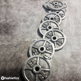 Fashletics Weight Plate Charm - Pewter (45lb/20.4kg)