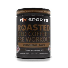 MN Sports Roasted Iced Coffee + Pre Workout Original Java 35 servings tub