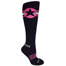 Moxy American Star Knee-High Pink/Lime USA