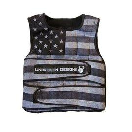 Unbroken Designs Stars and Stripes 40LB Weight Vest