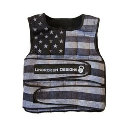 Unbroken Designs Stars and Stripes 40LB Weighted Vest