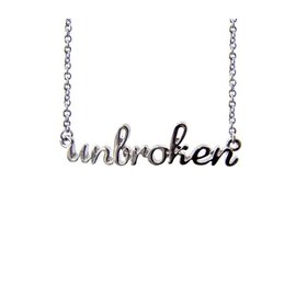 "Unbroken Designs Unbroken Necklace Silver Plated 16"" with 3"" extender chain"