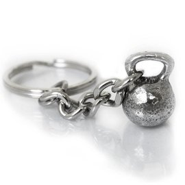 Fashletics Kettlebell Key Chain - Pewter