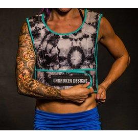 Unbroken Designs Electric Blue Tie Dye 30lb Weight Vest