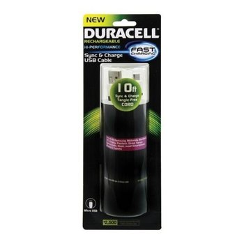 Duracell Sync & Charge USB Cable 10ft