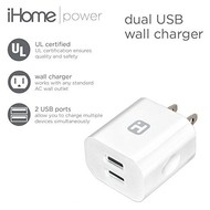 iHome Power Dual USB Wall Charger