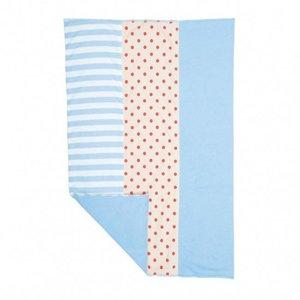 Apple Park Farm Boy Burp Cloth w/Stripes & Dots