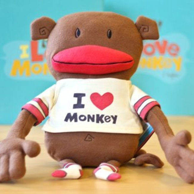 Compendium I Love Monkey Plush Doll