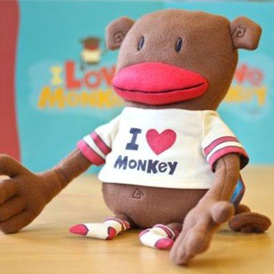 Compendium I Love Monkey Plush Doll