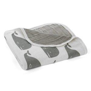 Milkbarn, LLC Stroller Blanket Grey Whale