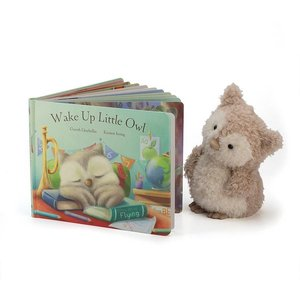 Jelly Cat Wake Up Little Owl Book
