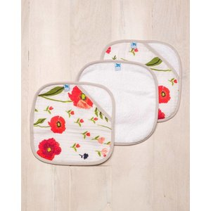 Little Unicorn Cotton Wash Cloth 3 Pack - Summer Poppy