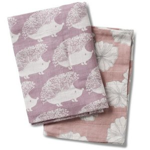 Milkbarn, LLC Burp Cloths - Hedgehog Rose Floral Mix