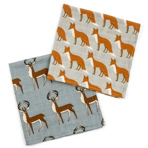 Milkbarn, LLC Burp Cloths - Buck Fox Mix