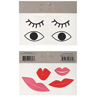 Meri Meri Eyes & Lips Tattoos