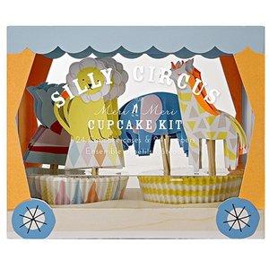 Meri Meri Silly Circus Cupcake Kit