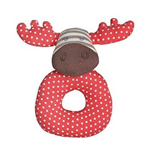 Apple Park Margeaux  Moose Teething Rattle