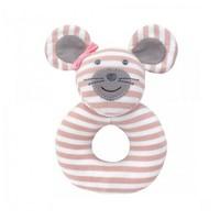 Apple Park Ballerina Mouse Teething Rattle