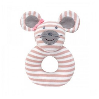 Apple Park Ballerina Mouse Teething Rattle