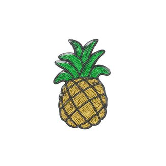 iDecoz Pineapple Sequin Sticker Patch 2""