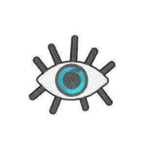 "iDecoz Evil Eye Sequin Sticker Patch 2"""