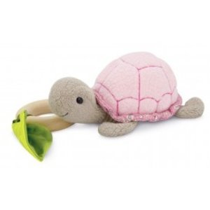 Apple Park Organic Teething Toy Turtle - Pink