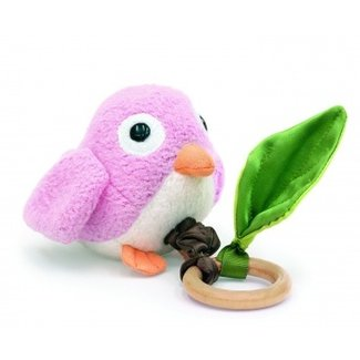 Apple Park Crawling Birdie Teething Toy - Pink