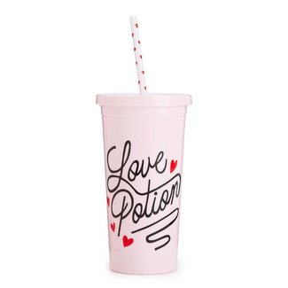 Ban.do sip sip tumbler with straw, love potion