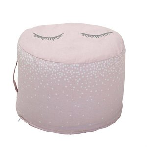 Cotton Pouf in Rose