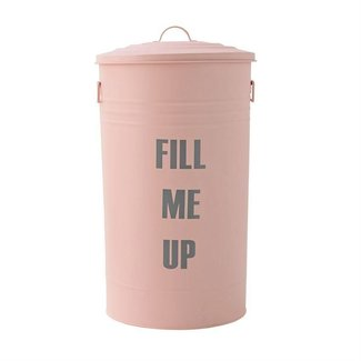 Fill Me Up Metal Trash Can