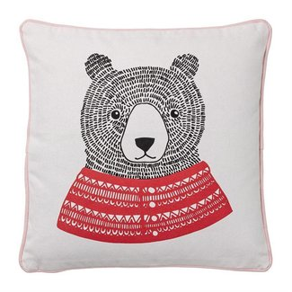 Square Pillow w/ Bear