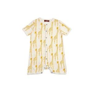 Milkbarn, LLC Organic Shortall - Yellow Giraffe
