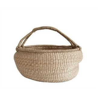 "24"" Seagrass Basket with Handle"