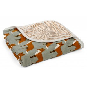 Milkbarn, LLC Stroller Blanket Orange Fox