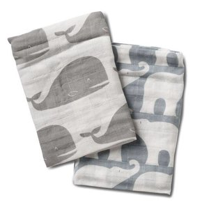 Milkbarn, LLC Burp Cloths - Whale Elephant Mix