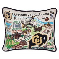 Catstudio Boulder University College Embroidered Pillow