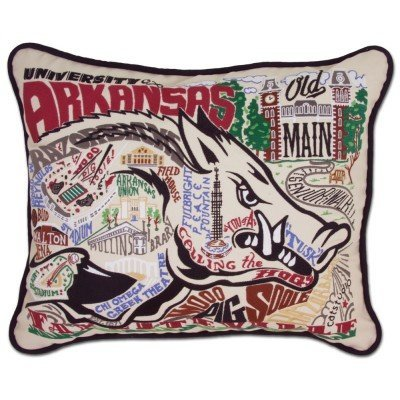 Catstudio Arkansas University College Embroidered Pillow