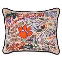 Catstudio Clemson University College Embroidered Pillow