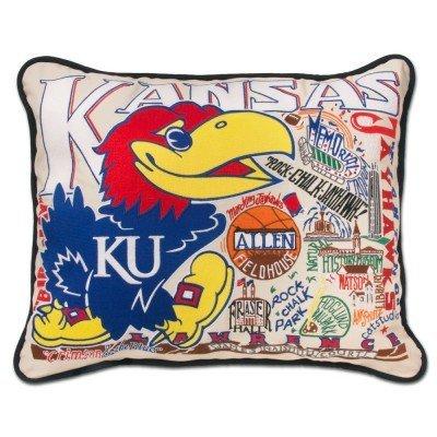 Catstudio Kansas University College Embroidered Pillow