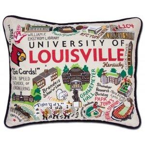 Catstudio Louisville University College Embroidered Pillow