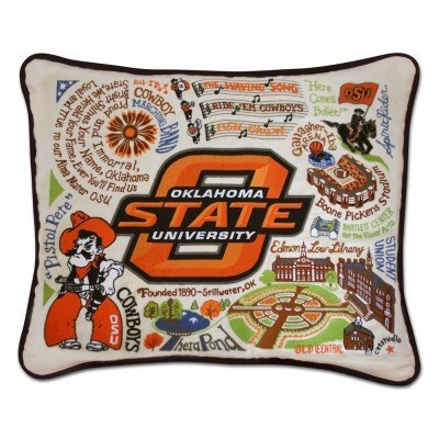Catstudio Oklahoma State University Embroidered Pillow