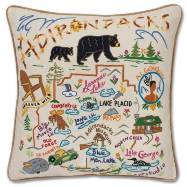 Catstudio Adirondacks Embroidered Pillow
