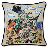 Catstudio Empire State Embroidered Pillow