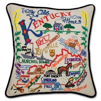 Catstudio Kentucky Hand Embroidered Pillow