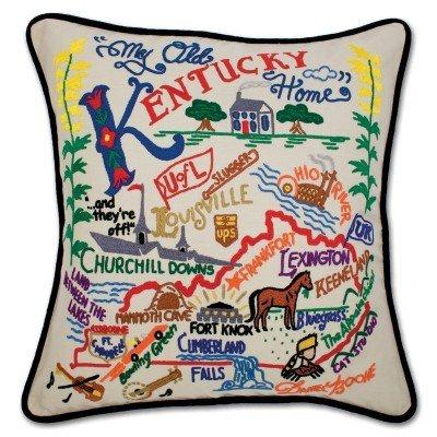Catstudio Kentucky Hand Embroidered Pillow