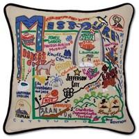 Catstudio Missouri Embroidered Pillow