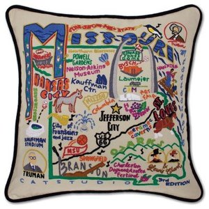 Catstudio Missouri Embroidered Pillow