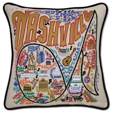Catstudio Nashville Embroidered Pillow